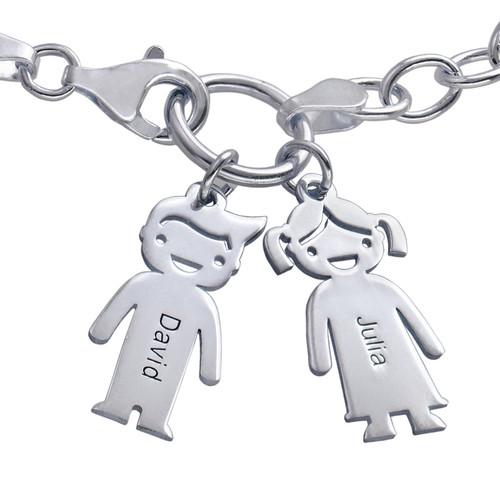 Bracelet avec breloques enfants à graver - 1