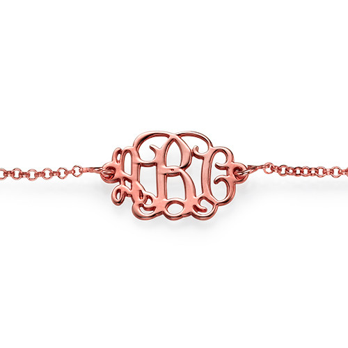 Bracelet Arabesque Personnalisé Plaqué Or Rose - 1