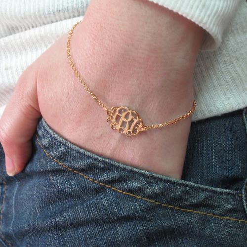 Bracelet Arabesque Personnalisé Plaqué Or Rose - 2