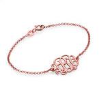 Bracelet Arabesque Personnalisé Plaqué Or Rose