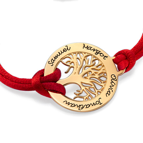 Bracelet Arbre de Vie en Plaqué Or 18Ct - 1