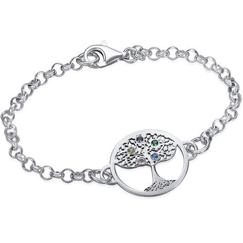 Bracelet Arbre de Vie et pierres de naissance