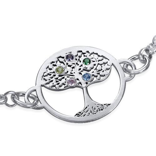 Bracelet Arbre de Vie et pierres de naissance - 1