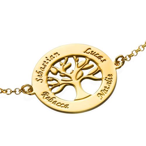 Bracelet Arbre de vie - Plaqué or - 1