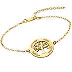 Bracelet Arbre de vie - Plaqué or