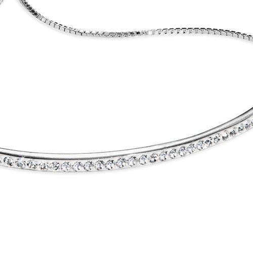 Bracelet Barre Ajustable en zirconium - 1