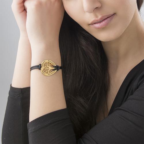 Bracelet Coeur Arbre de Vie en Plaqué or - 2