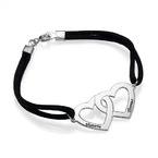 Bracelet Coeur pour couple en argent