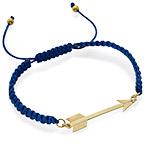 Bracelet Flèche Plaquée Or sur Cordon