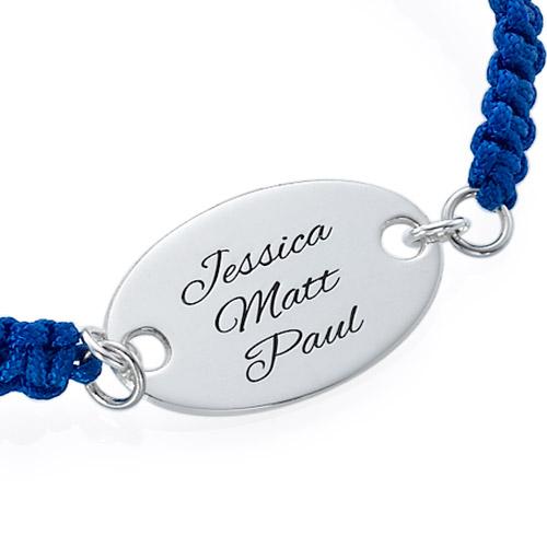 Bracelet Gravé Ovale Cordon - 1