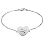 Bracelet Gravé à la main en forme de Cœur