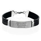 Bracelet Homme cuir personnalisé prénom