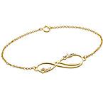 Bracelet Infini 2 prénoms en Or 14cts