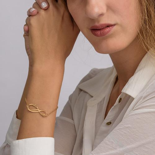 Bracelet Infini 2 prénoms en Or 14cts - 2