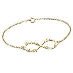 Bracelet Infini 4 prénoms en  Or 14 cts
