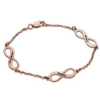 Bracelet Infini Multiple charms en Plaqué or Rose 18cts