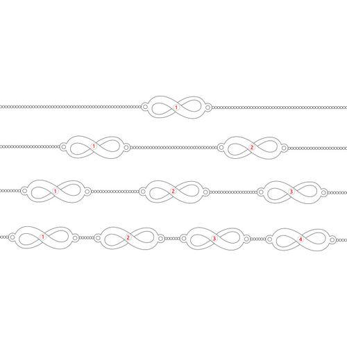 Bracelet Infini Multiple en Argent - 6
