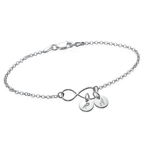 Bracelet / Bracelet de cheville Infini avec  Initiales