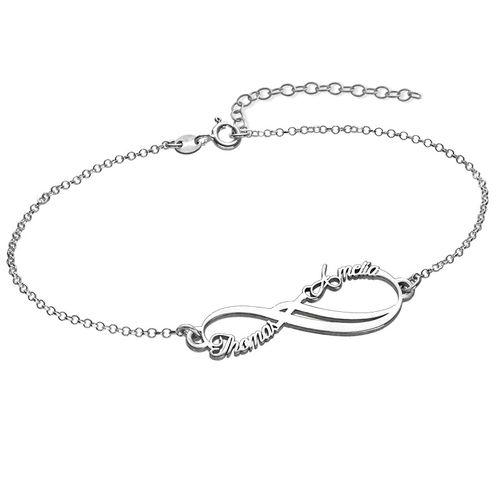 Bracelet Infini avec 2 prénoms