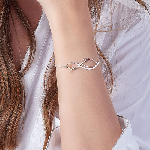 Bracelet Infini avec 2 prénoms - 3