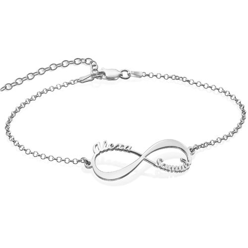 Bracelet Infini avec prénoms en Argent
