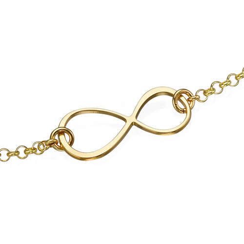 Bracelet Infini en plaqué or - 1