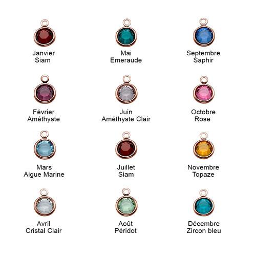 Bracelet Infini pierre de naissance en plaqué or rose - 2