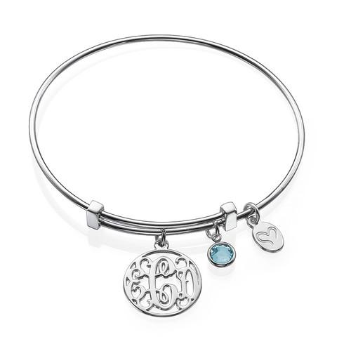 Bracelet Jonc Monogram avec charms