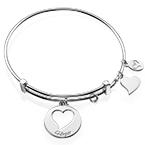 "Bracelet Jonc avec Charm ""Coeur"""
