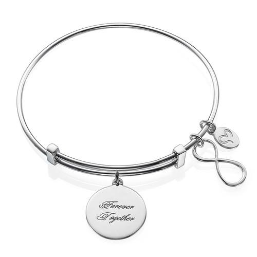 "Bracelet Jonc et Charm ""Infini"""