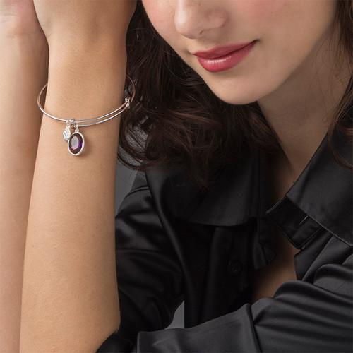 Bracelet Jonc et pierre à personnaliser - 2