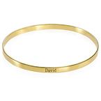 Bracelet Jonc gravé en plaqué or 18 carats