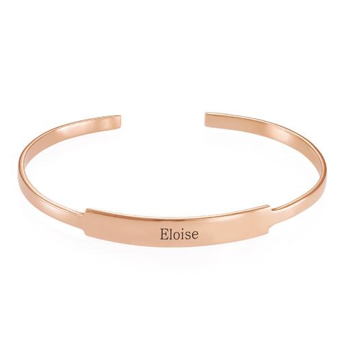 Bracelet Jonc prénom ouvert en plaqué or rose