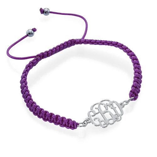 Bracelet Monogramme sur Cordon