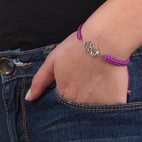 Bracelet Monogramme sur Cordon - 2