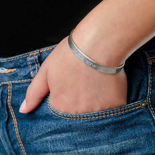 Bracelet Personnalisé en Argent - 1
