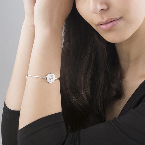 Bracelet Rigide Pieds de Bébé - 2