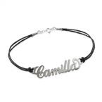 Bracelet à personnaliser avec un bracelet style cuir
