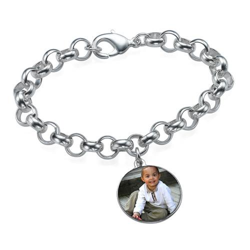 Bracelet charme avec photo en disque - 1