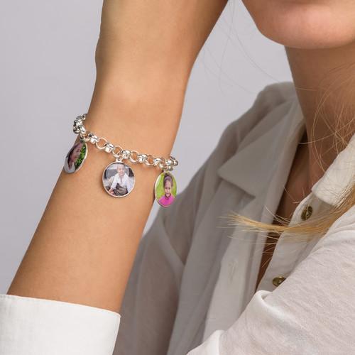 Bracelet charme avec photo en disque - 3
