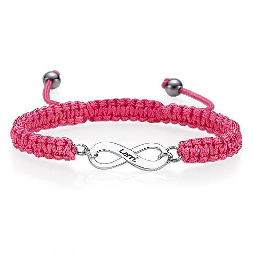 Bracelet d'amitié Infini bleu - 2