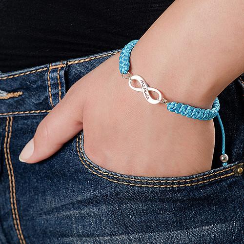 Bracelet d'amitié Infini bleu - 4