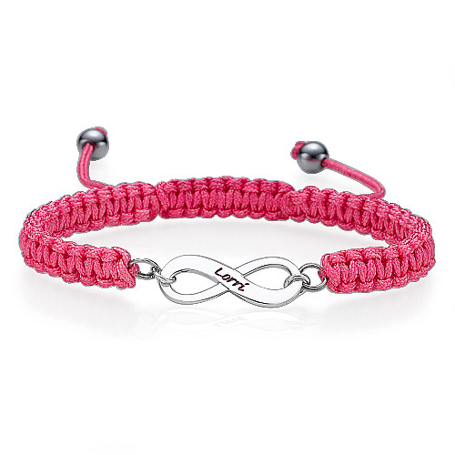 Bracelet d'amitié Infini rose