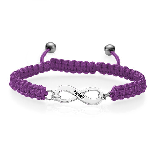 Bracelet d'amitié Infini rose - 3