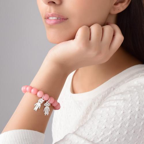 Bracelet de Perles avec Pendentif enfants - 3