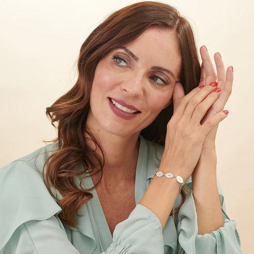 Bracelet de famille personnalisé pour Maman avec le nom des enfants -Pendentifs ovales - 2