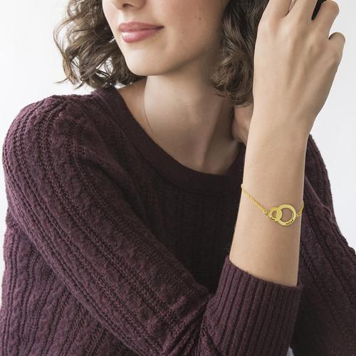 Bracelet disques entrelacés Eternité-Plaqué Or Jaune - 2