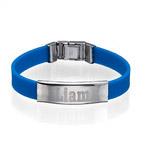 Bracelet en caoutchouc avec Boucle personnalisé pour hommes