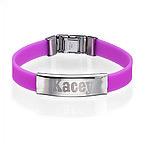 Bracelet Personnalisé en Silicone Avec Boucle en Acier Inoxydable
