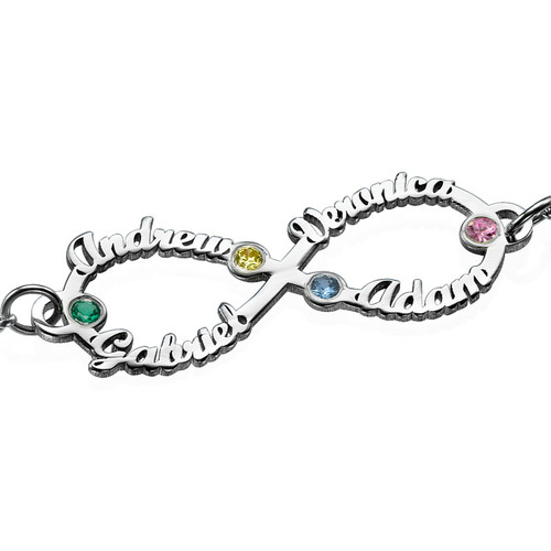 Bracelet infini 4 prénoms - 1
